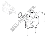 WATER PUMP for MV Agusta BRUTALE 990R 2011