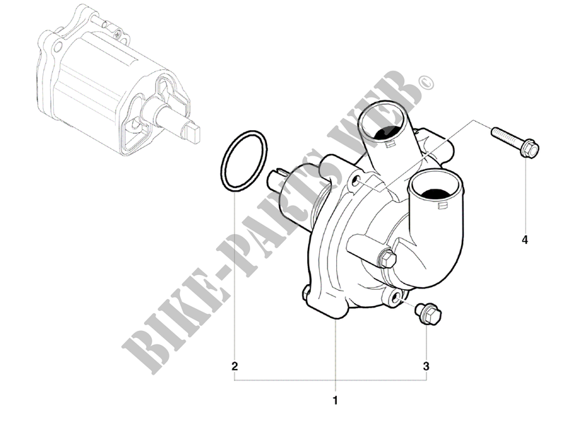 WATER PUMP for MV Agusta BRUTALE 1090R 2012