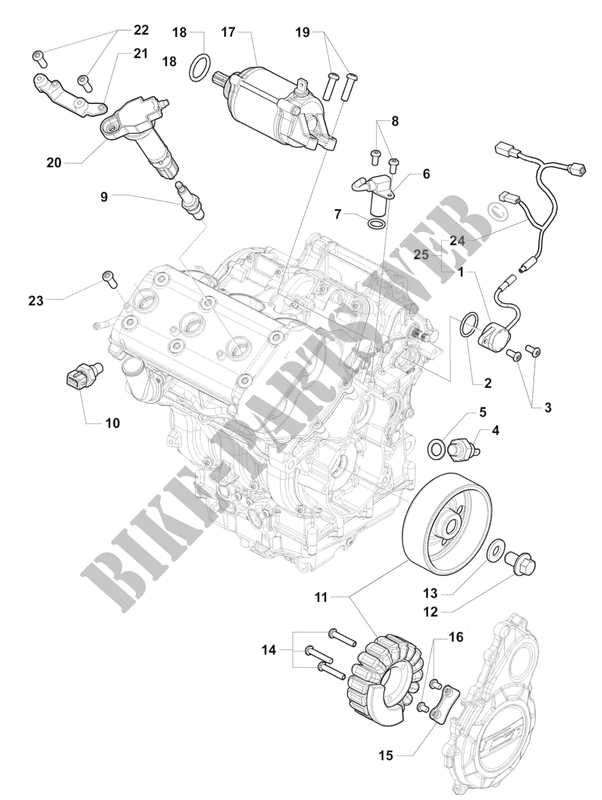 ENGINE ELECTRIC SYSTEM for MV Agusta F3 800 2013