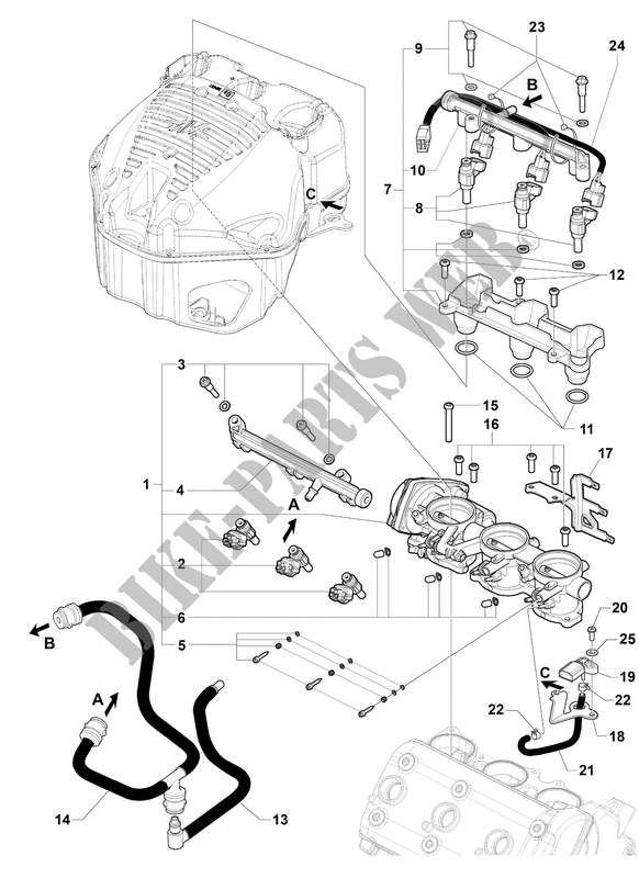 FUEL INTAKE SYSTEM for MV Agusta F3 800 2013