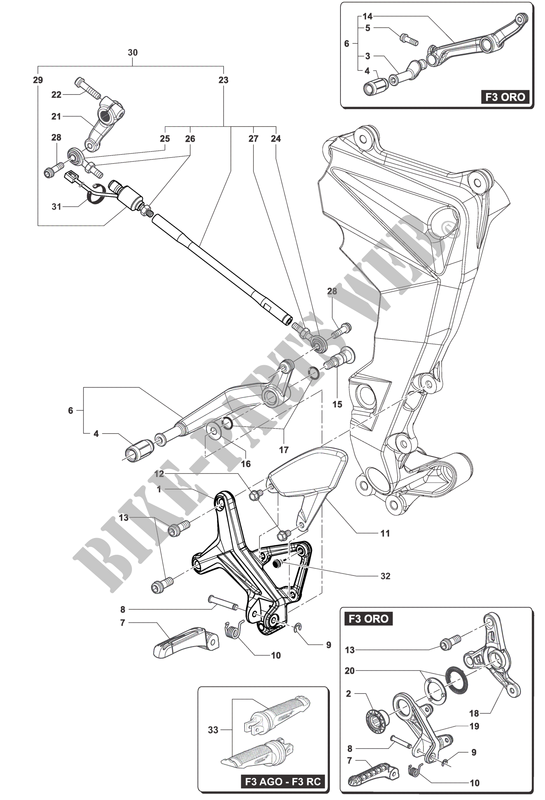 LEFT FOOTREST for MV Agusta F3 800 2013