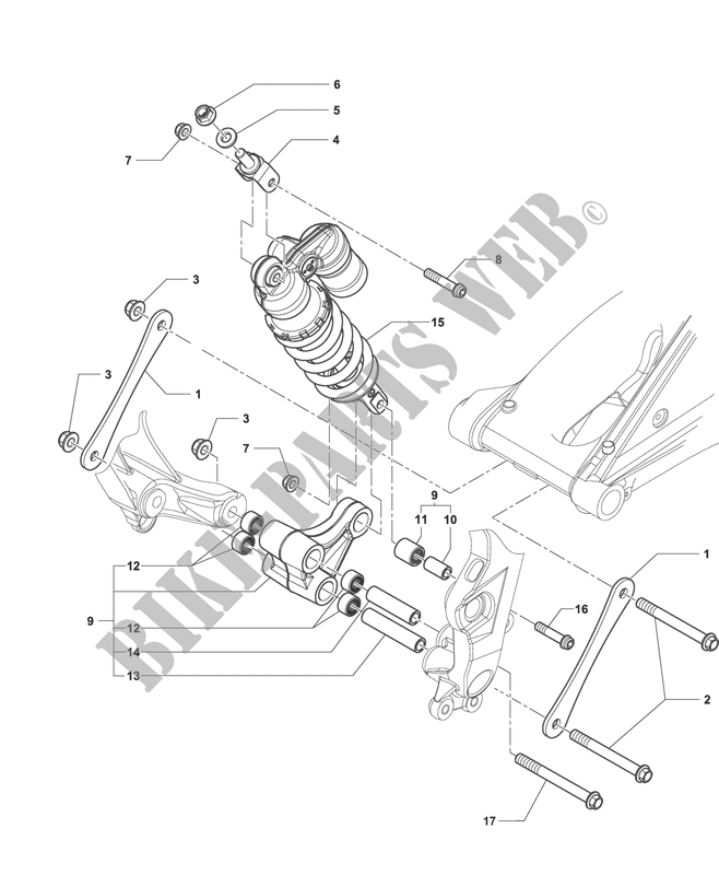 SHOCK ABSORBER ASSEMBLY for MV Agusta F3 800 AGO 2014