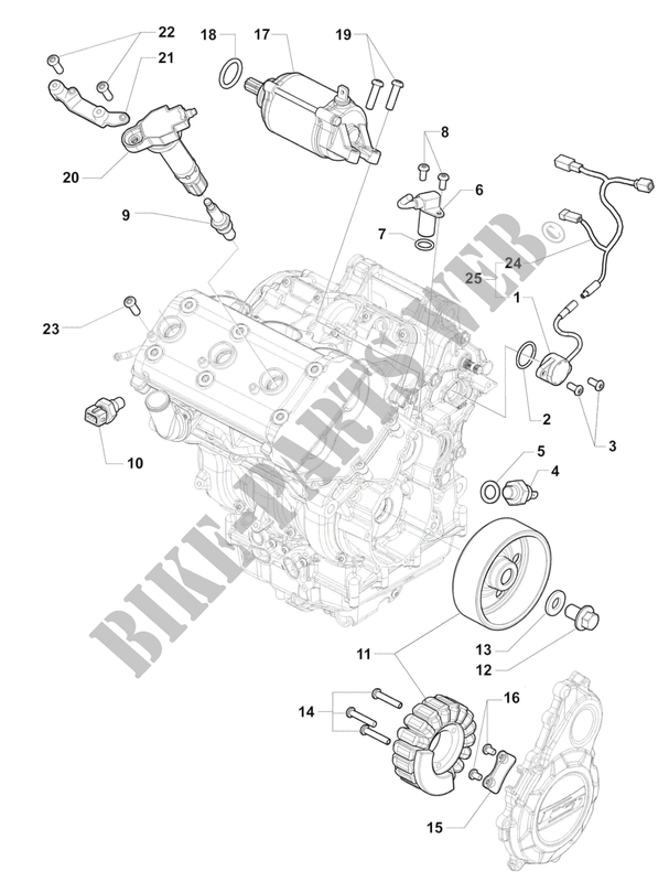 ENGINE ELECTRIC SYSTEM for MV Agusta BRUTALE 800RR 2015