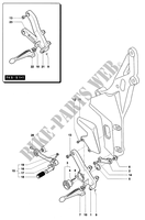 LEFT FOOTREST for MV Agusta F4 750S 2003