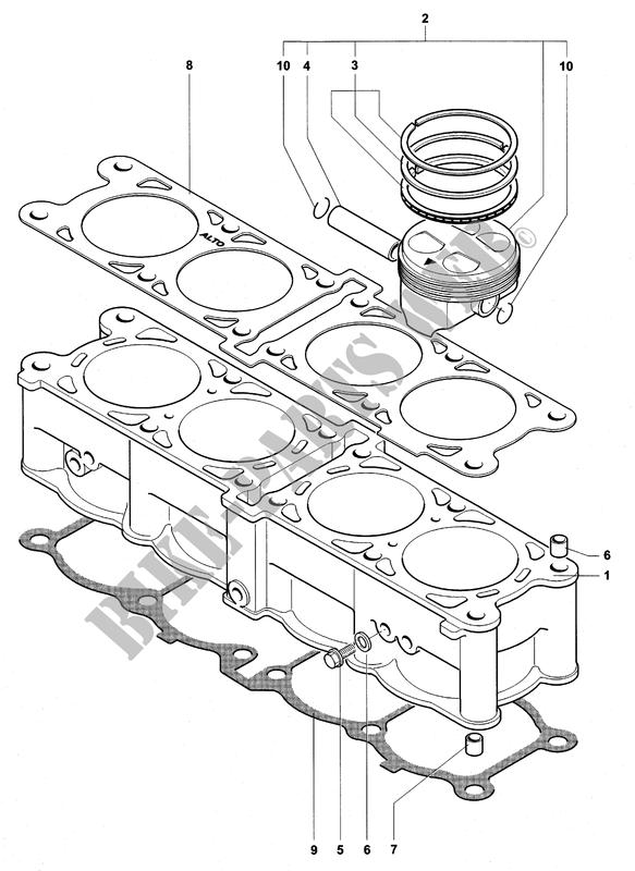 Cylinder X Piston F4 750s 11 2002 F4 Mvagusta Motorcycle Mv