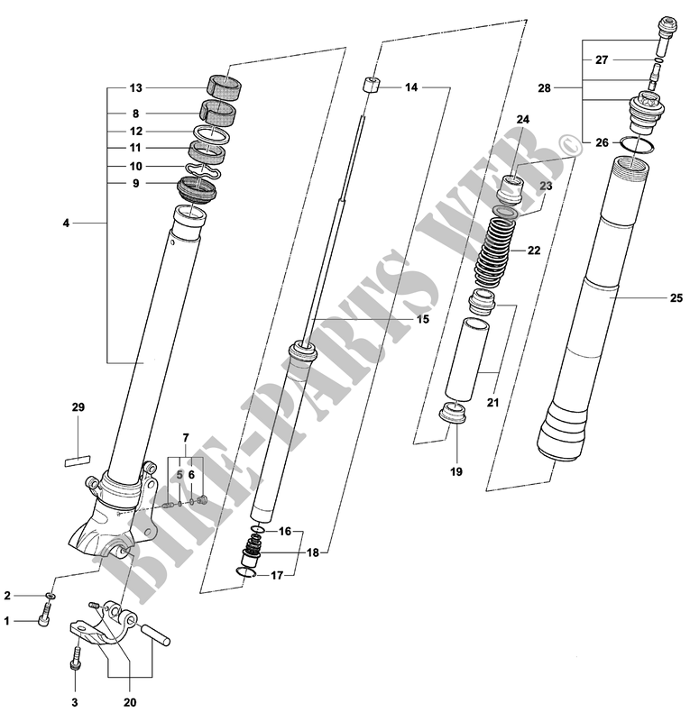 front fork right  f4 spr senna  for mv agusta f4 750 spr 2003   mv agusta