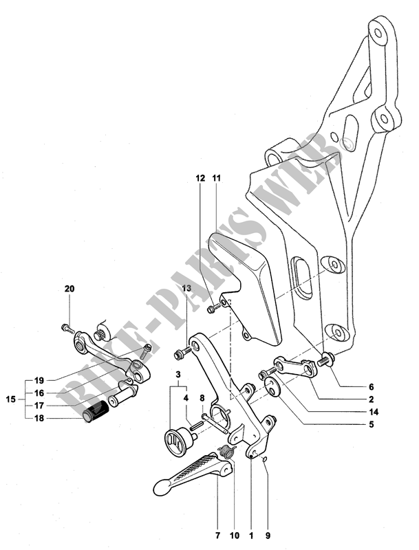 LEFT FOOTREST for MV Agusta F4 1000S 2004