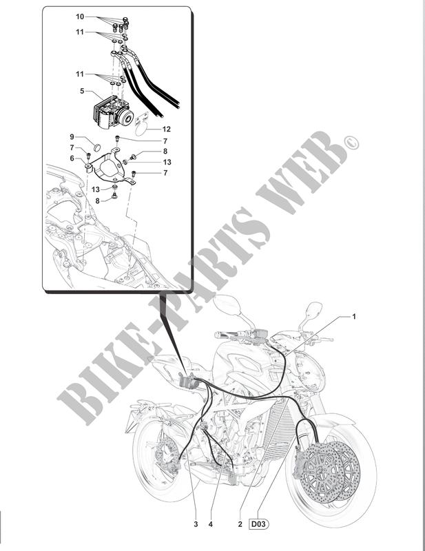 Abs Braking System Brutale 800 2017 Brutale B3 Mvagusta Motorcycle