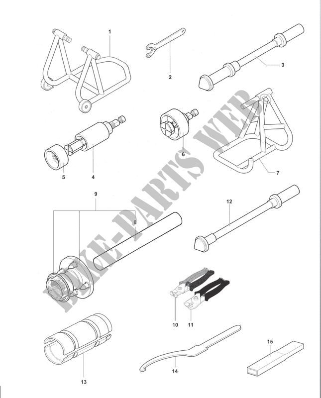 Frame Maintenance Tools 1 Brutale 800 2017 Brutale B3 Mvagusta