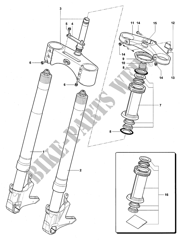 FRONT FORK  for MV Agusta F4 1000R 1+1 2006