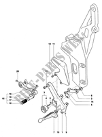 LEFT FOOTREST for MV Agusta F4 1000R 2006