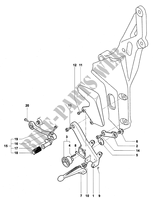 LEFT FOOTREST for MV Agusta F4 312R 1000 1+1 2008