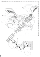 WIRING HARNESS   MIRRORS for MV Agusta F4 1000 R 2011