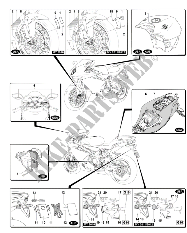 OTHER COUNTRIES VERSIONS for MV Agusta F4 1000 RR 2012